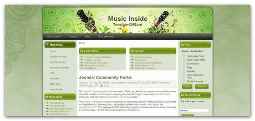 Music Inside v1.2 | Free Joomla Template