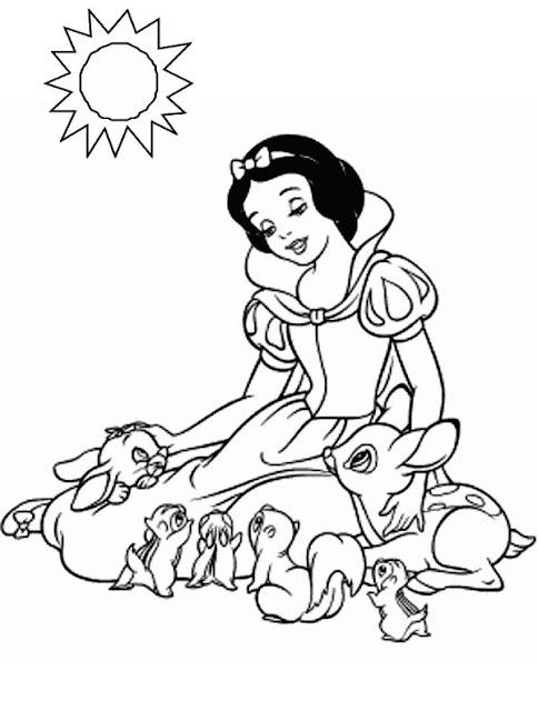 Colorir Desenhos Princesas Disney
