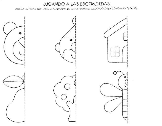 Fichas De Dibujos Para Completar