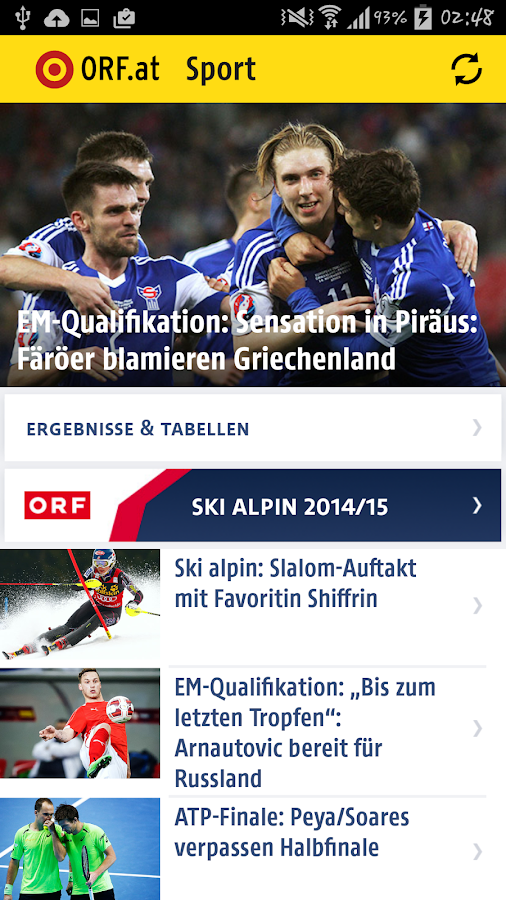 ORF.at Sport- screenshot