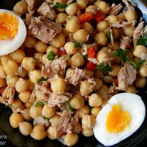 Warm Chickpea and Tuna Salad
