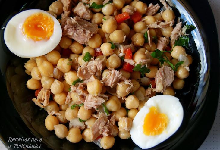 Warm Chickpea and Tuna Salad Recipe