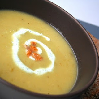 Spicy Green Tomato Soup with Crispy Pancetta