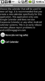 Call Log onto Calendar- screenshot thumbnail