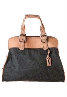 5dc6c293aa Insolite et élégant - le brun / gris sac à main de Frédéric de légionnaire!  réel Loden semi-huile végétale-cuir tanné. Hauteur: 41 cm. Longueur: 44 cm