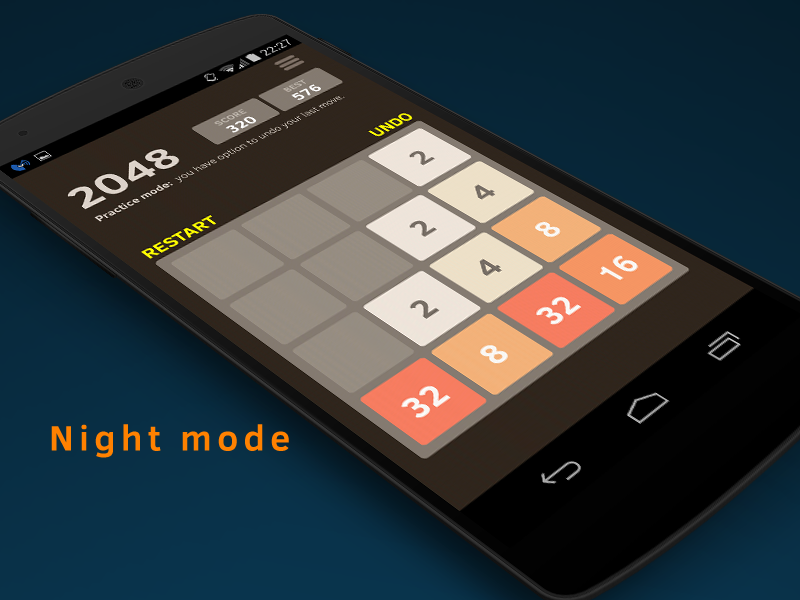 2048 Number puzzle game - screenshot
