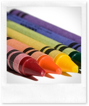 crayons white background