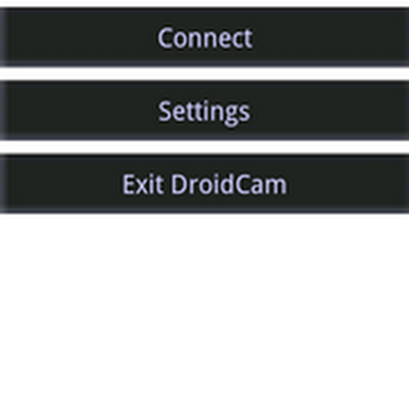 How to] Use your Android Phone as a web cam for your laptop