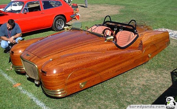 cars weird unusual weirdest wooden strange ever wood built
