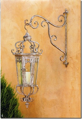 Triumphe Metal Outdoor Hanging Lantern with Wall Mount