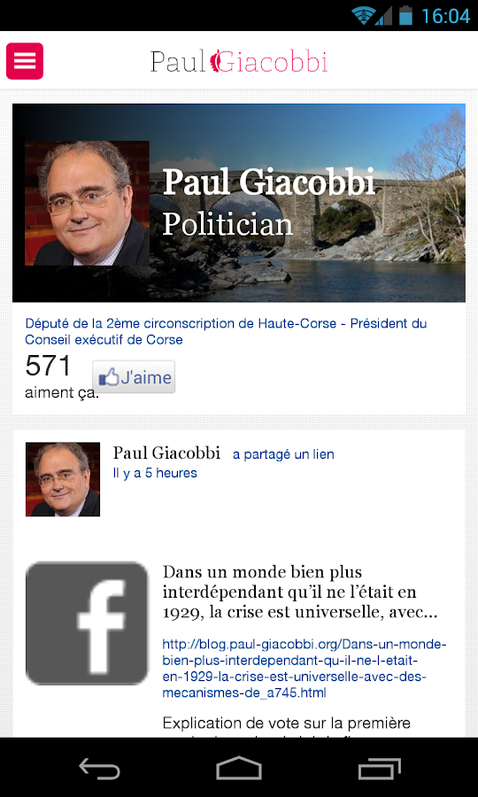 Paul Giacobbi - screenshot