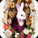 Aliceシリーズ☆ White Rabbit ライブ壁紙 icon