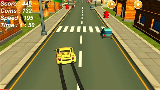 Traffic Smasher Car On Highway