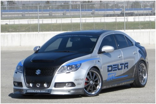 Parade of tuning versions Suzuki Kizashi in Las Vegas