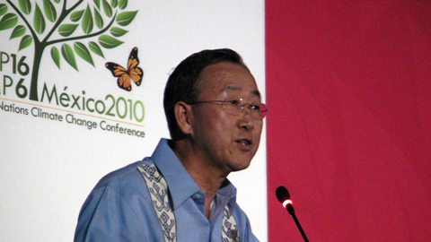 Ban Ki-moon at climate talks