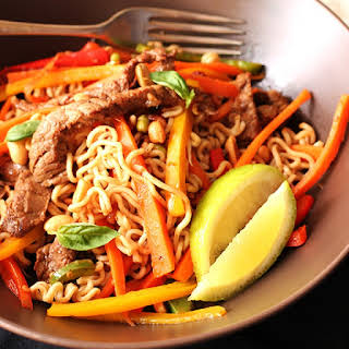 Noodle And Beef Stir Fry Recipe by Anina's Recipes.