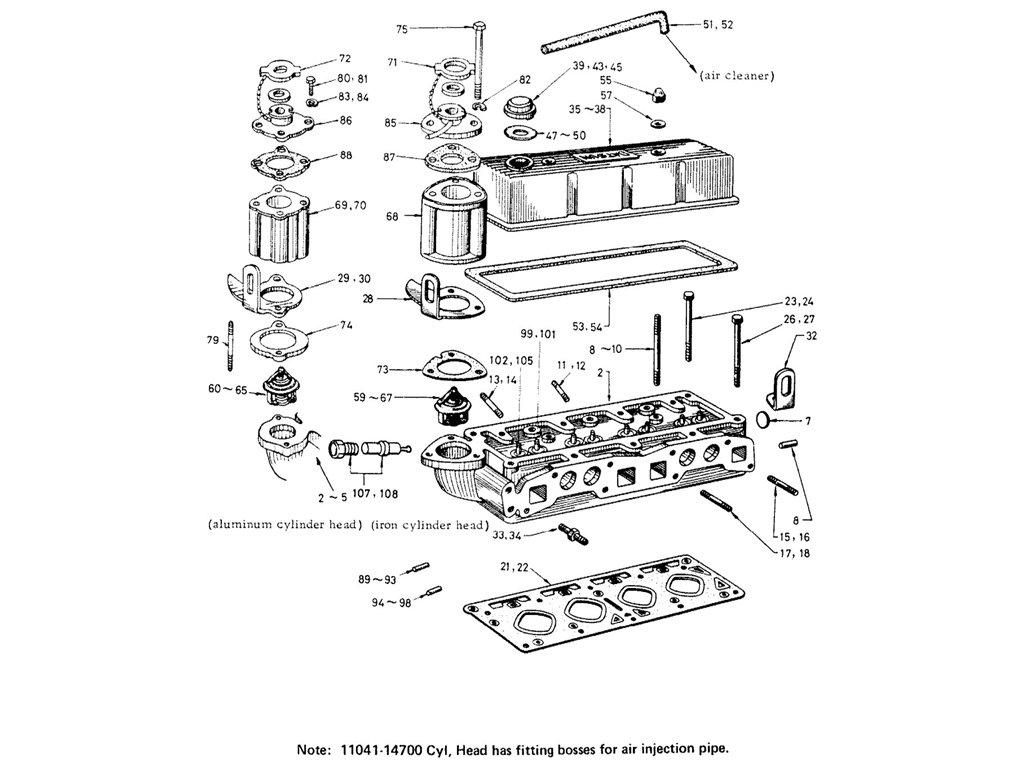 datsun fairlady 1600  r16  cylinder head