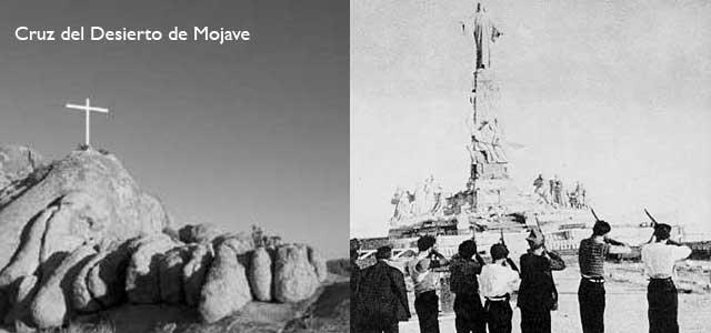 Cruz del Desierto de Mojave, Sagrado Corazón talibanizado por la Segunda República