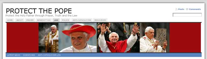 Protect the Pope - http://protectthepope.com