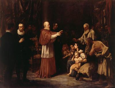 San Juan de Ribera convirtiendo a un grupo de moriscos