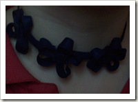 Necklace made from bias tape.
