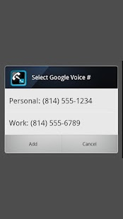 Google Voice with Windows Mobile Dial