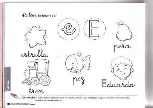 Dibujos Colorear Ninos 4 Anos: FICHAS DE CALIGRAFIA PREESCOLAR 4 AÑOS