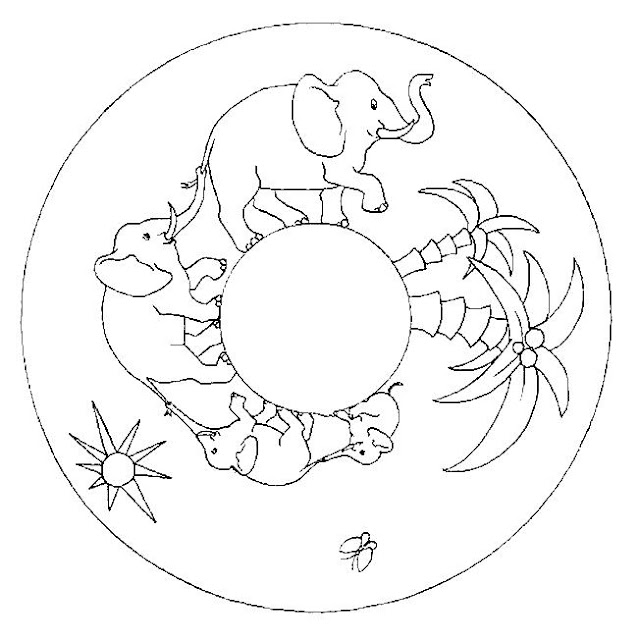 Mandalas Con Dibujos De La Naturaleza Para Pintar