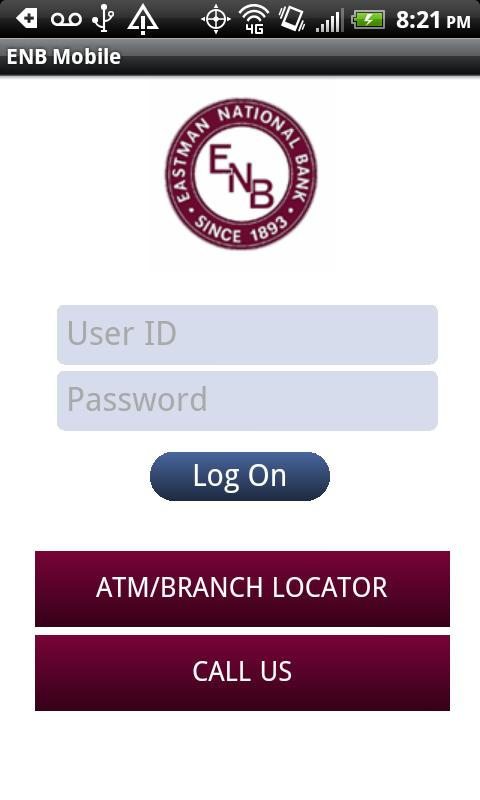 Eastman National Bank Mobile - screenshot