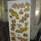 Реставрация дачного холодильника (декупаж)