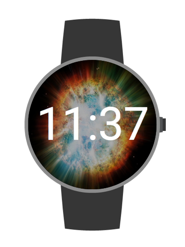Space Faces Android Watch Face