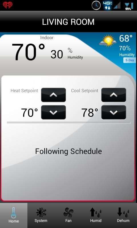 Total Connect Comfort - screenshot