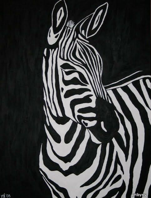 """Daily Painters Abstract Gallery: """"Black and White ..."""