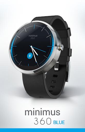 Watch Face - Minimus360 Blue