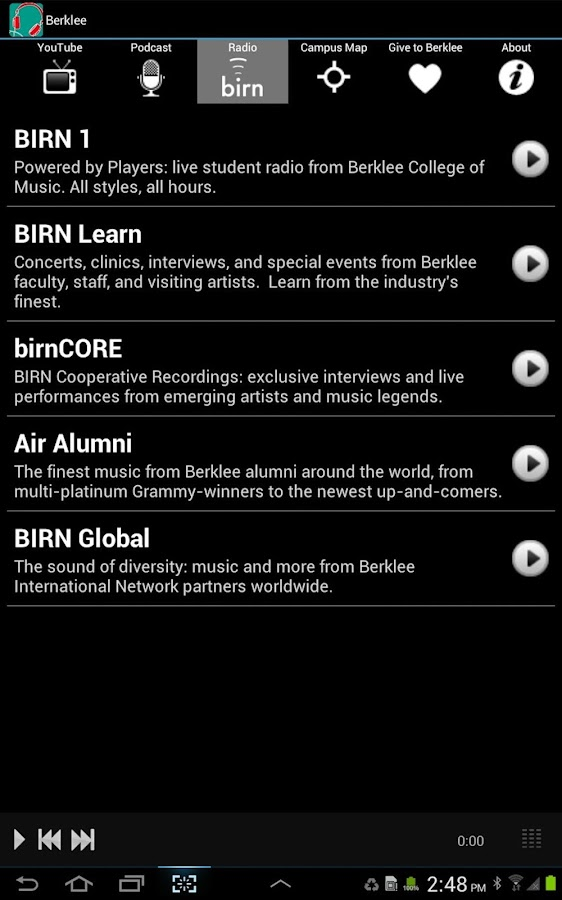 BerkleeMobile- screenshot