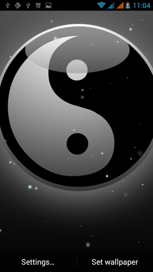 Yin yang papel parede animado apps para android no for Wallpapers 3d animados para android