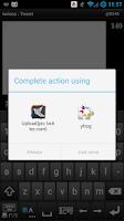Screenshot of yfrog plug-in for twicca