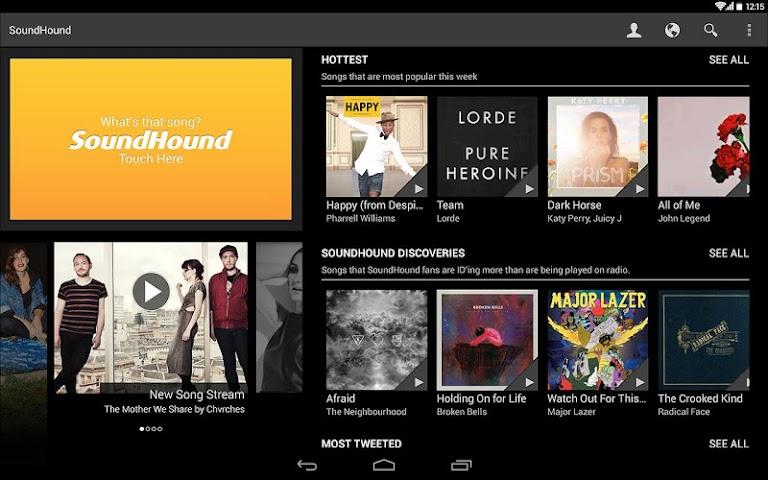 Screenshot 1 SoundHound Musik & Songtexte
