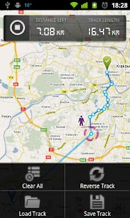 dTracker GPS route tracking - screenshot thumbnail
