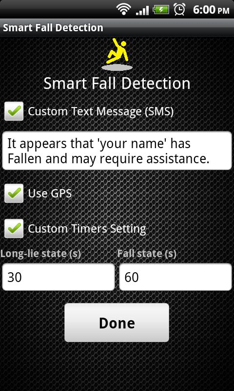 Smart Fall Detection - screenshot