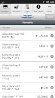 Screenshot of America First Mobile Banking