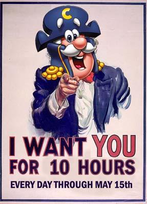 Captain Crunch as Uncle Sam