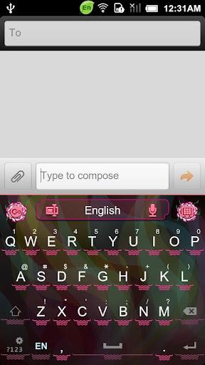 GO Keyboard Carnation theme