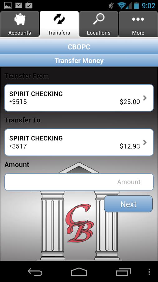 CBOPC Mobile Banking- screenshot