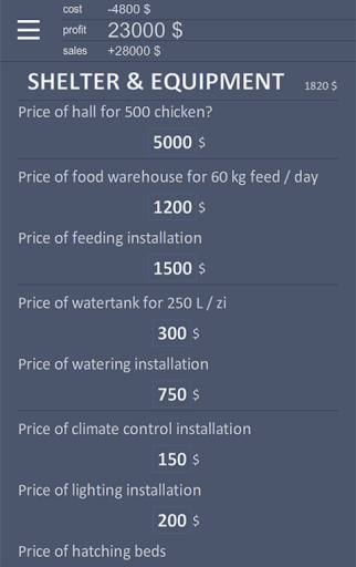 Chicken Farm Calculator 0.3 screenshots 2