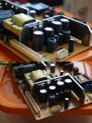 Failed capacitors