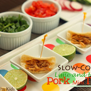 Slow Cooked Honey and Lime Pork Mini Tacos