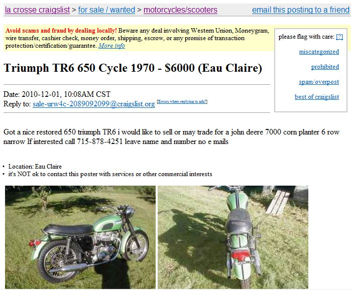 Midwest Craigslist Finds Indicating Lunacy | Page 102