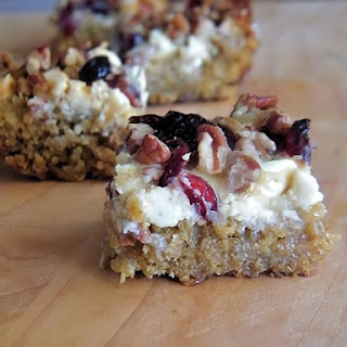 White Chocolate Chip and Cranberry Bars.