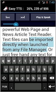 Easy Text To Speech- screenshot thumbnail